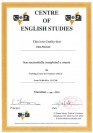 2008 — certify Centre of English Studies